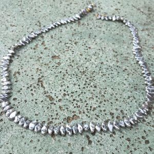 FreshWater pearl necklace grey